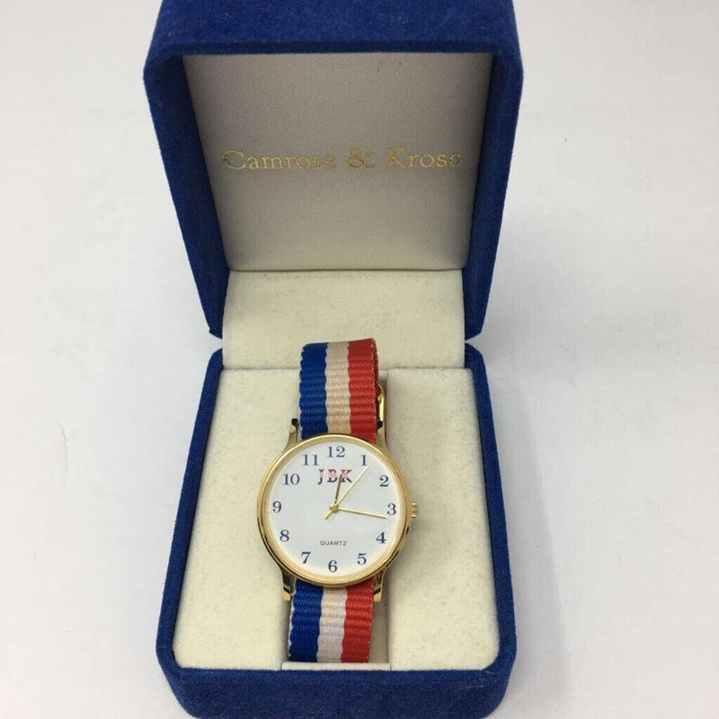 camrose & kross jfk replica red/wht/blue watch - Selective Seconds Fashion Resale
