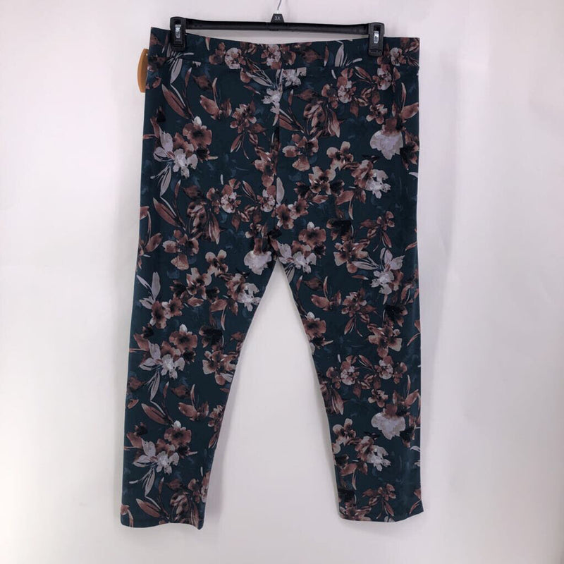2X/63 print knit slim leg pants