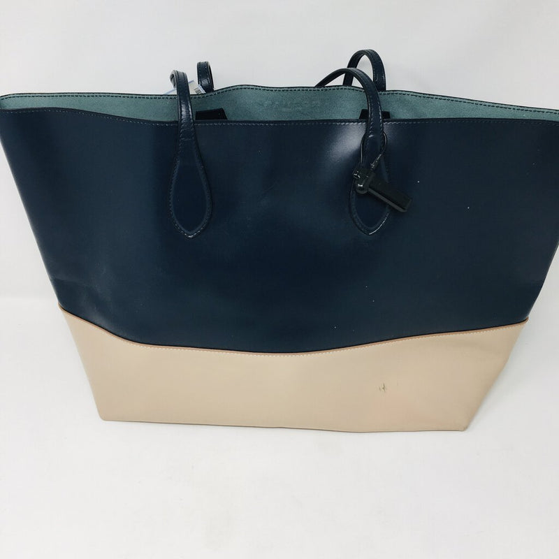 color block tote w/ pouch
