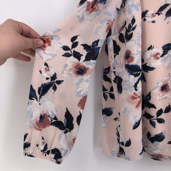 l/s floral cold shoulder
