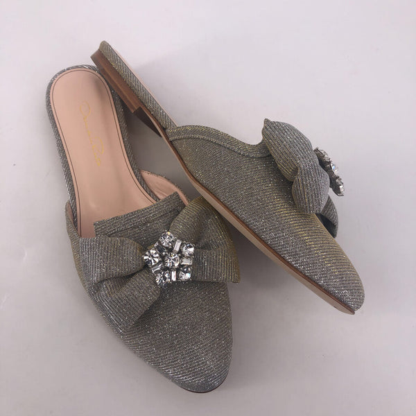 40 Oscar de la Renta slipon sparkle shoes