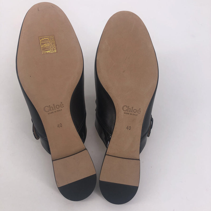 40 Chloe black scallop shoes
