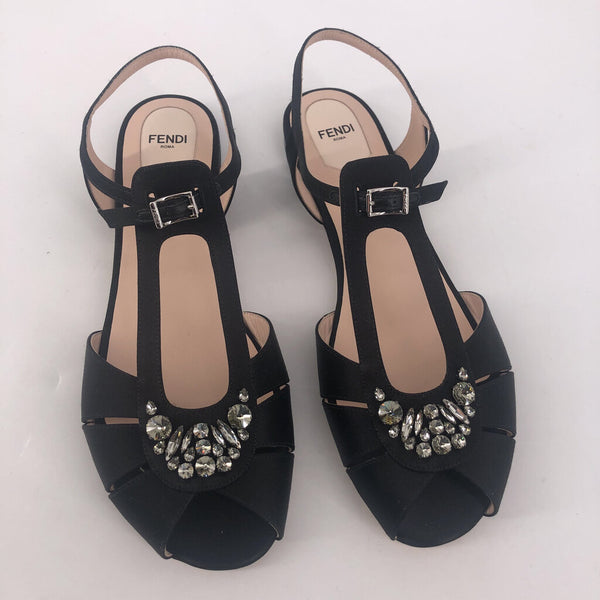 40.5 Chameleon flat jeweled FENDI sandals