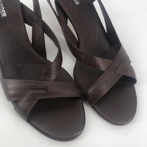 40 Jil Sander leather strap sandals