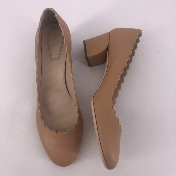 "41 Chloe scalloped 2.25"" nude heel"