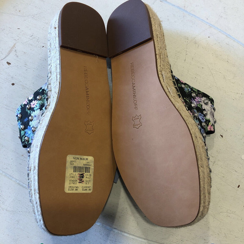SZ 37 floral espadrille two buckle