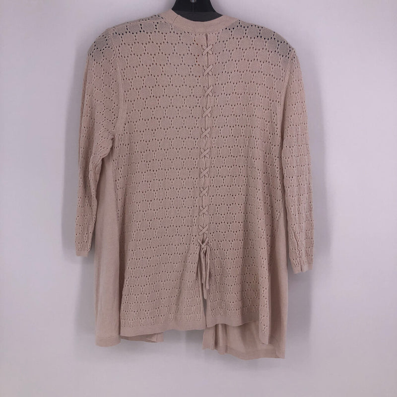 SZ L open front knitted cardigan