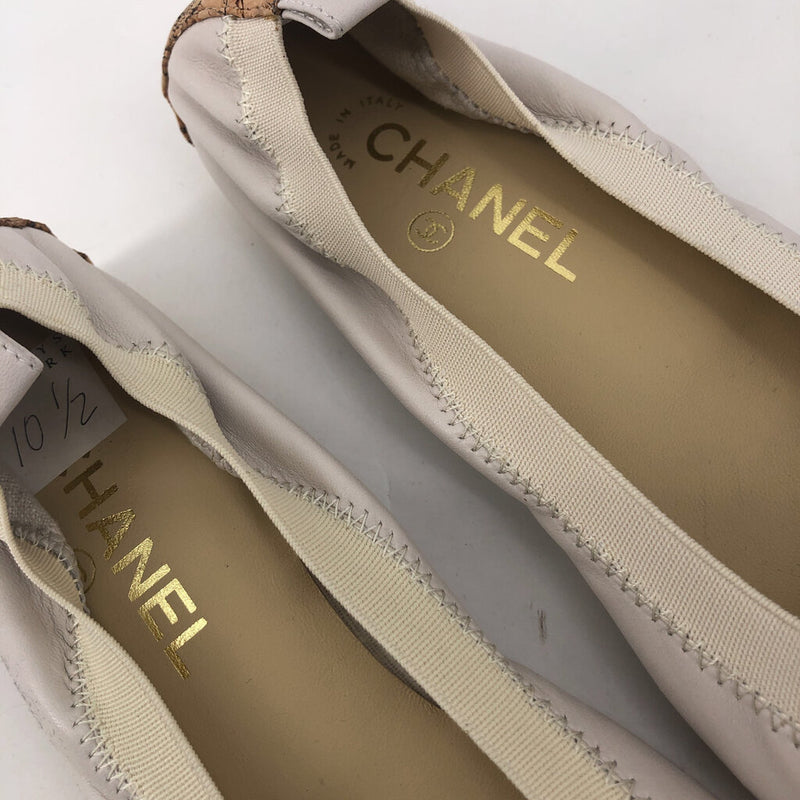 Sz 40.5 chanel stretch flat shoes