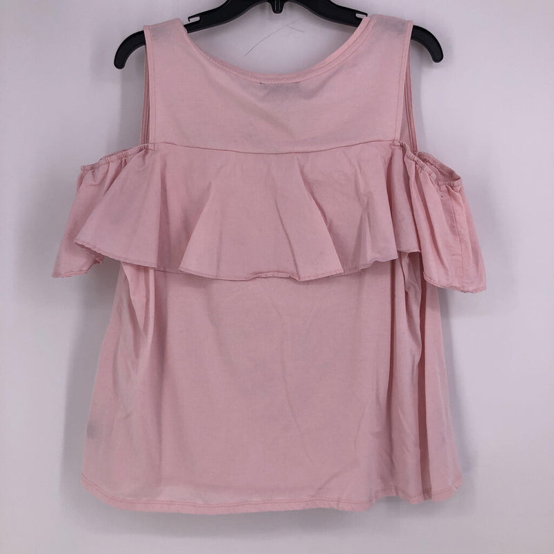 s/s cold shoulder ruffle collar