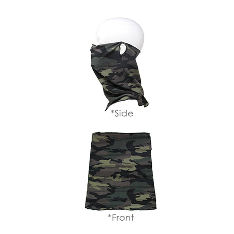 green camo scarf mask