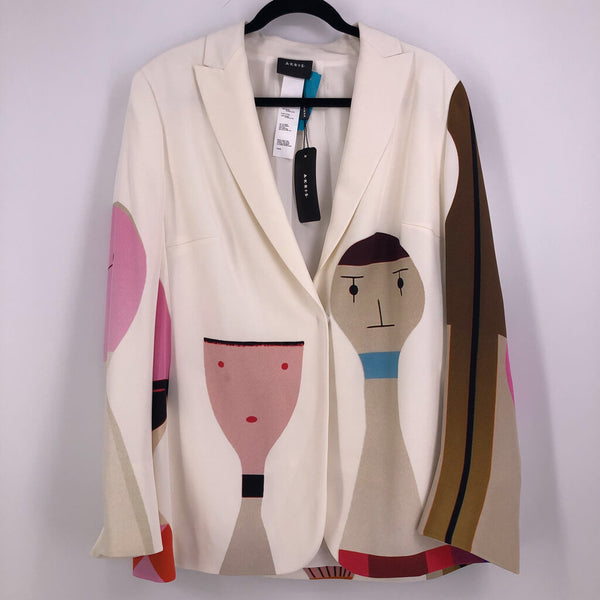 Sz 14 silk jacket faces