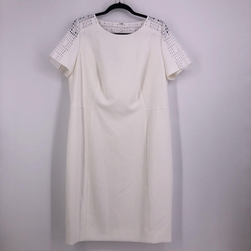 Sz 14 ss dress punch shoulders