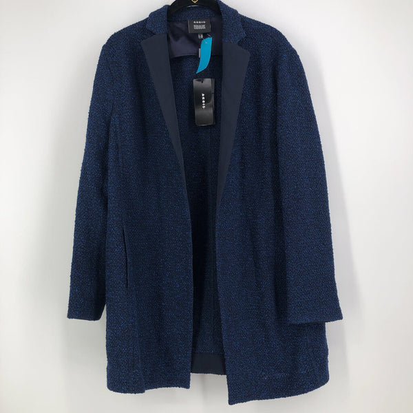 Sz 12 l/s open tweed jacket