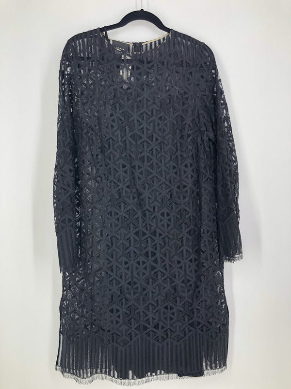Sz 14 2/pc dress total lace w/slip