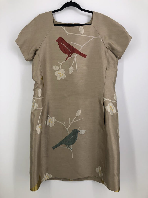Sz 16 silk bird dress