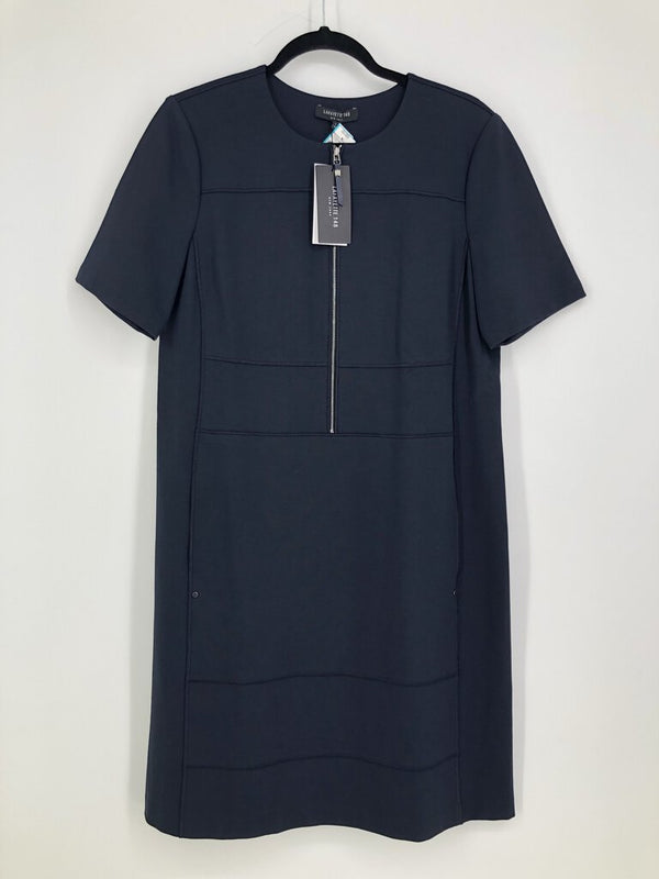 Sz Large s/s zip front dress