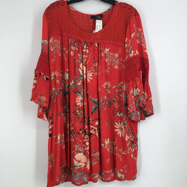 Sz 2x  Nwt  s/s floral top