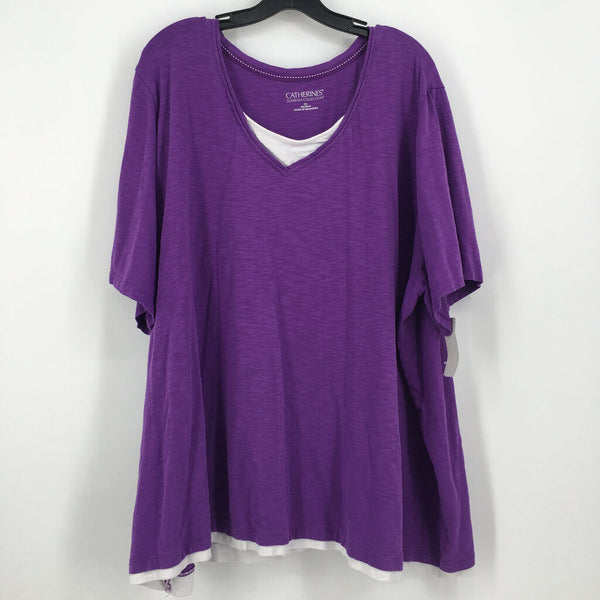Sz 3x  s/s v-neck top
