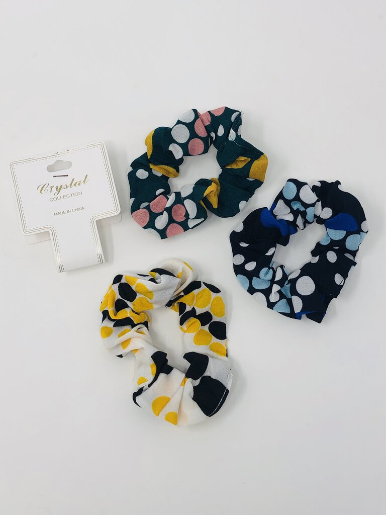 3-pc hair scrunchie polka dot