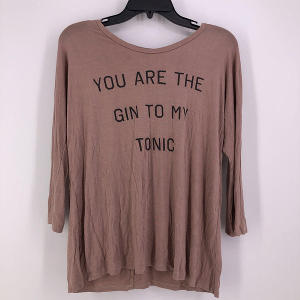 SZ L you're the gin to my tonic l/s