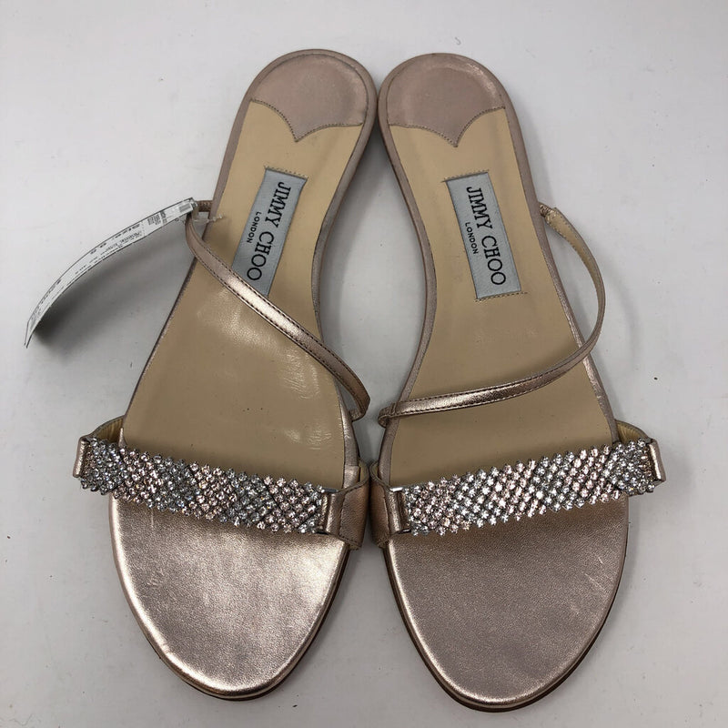 Jimmy Choo SZ 40.5 embellished open toe slip on