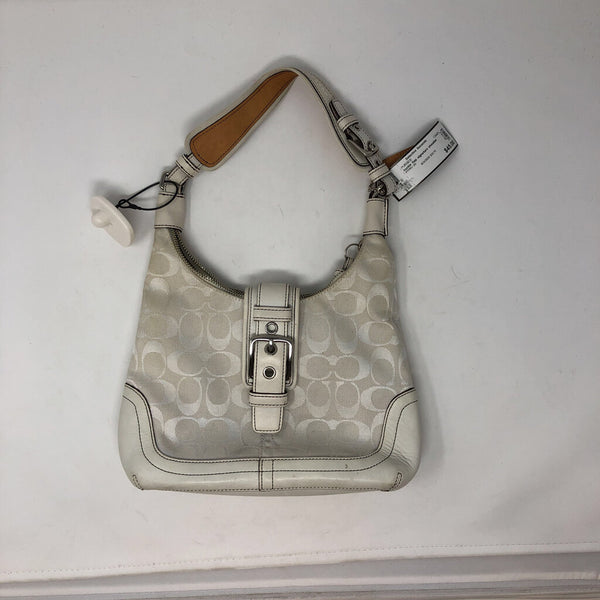 buckle flap signature shoulder bag