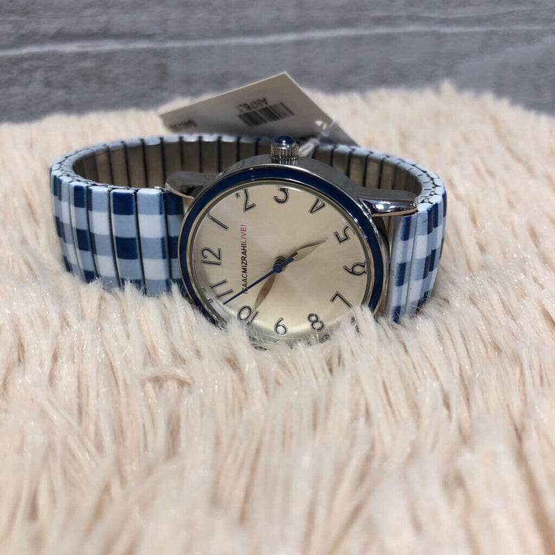 Isaac Mizrahi plaid print watch