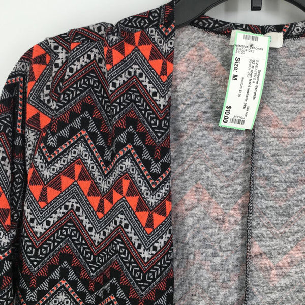 SZ M open front sweater