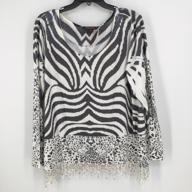 Sz xl zebra print sweater