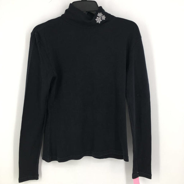 SZ M l/s turtle neck with snowflake