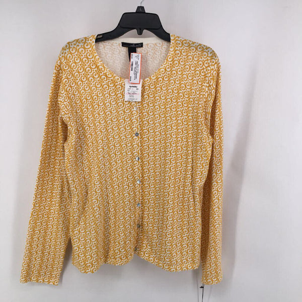 Nwt Sz XL printed l/s button up cardi