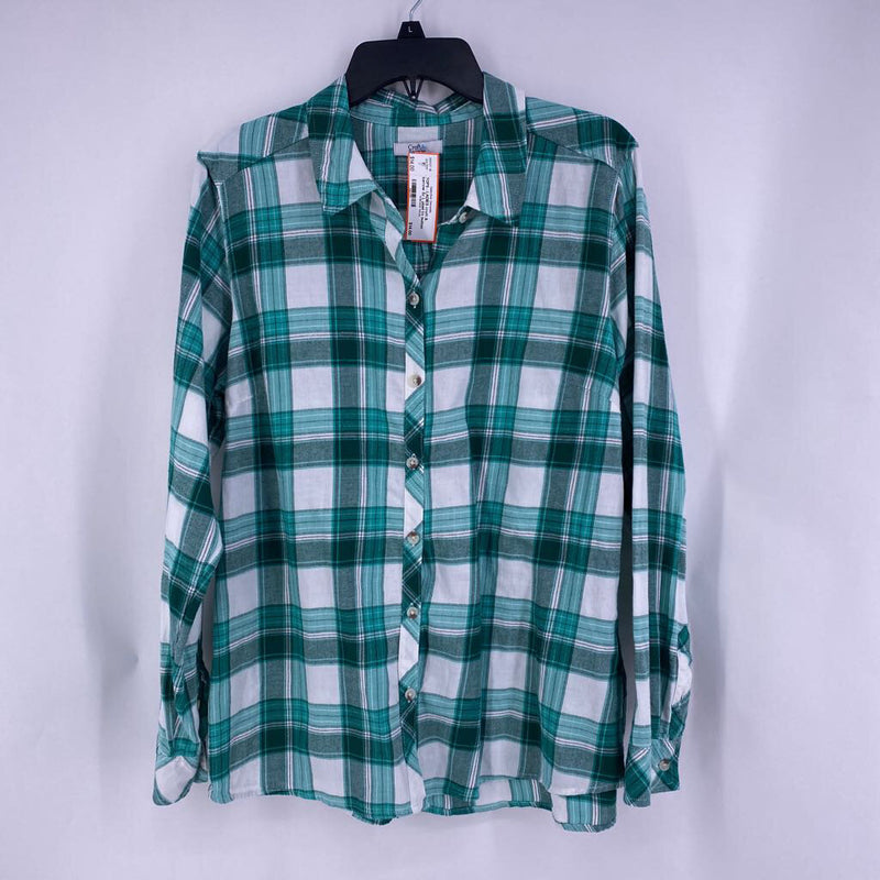 Sz L plaid l/s button down