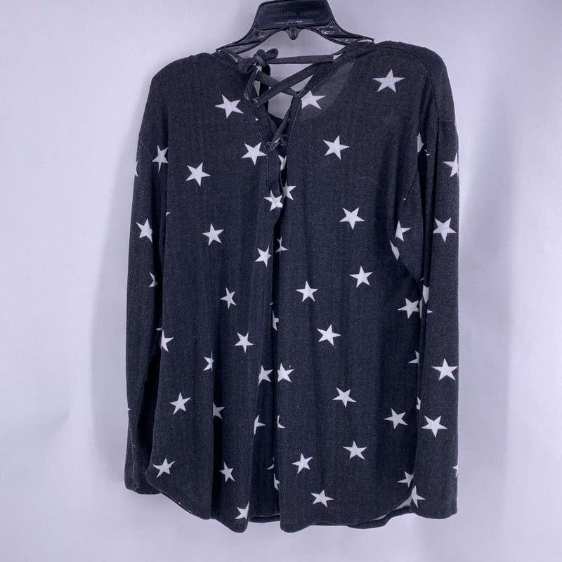 SZ XL star print sweater with open back