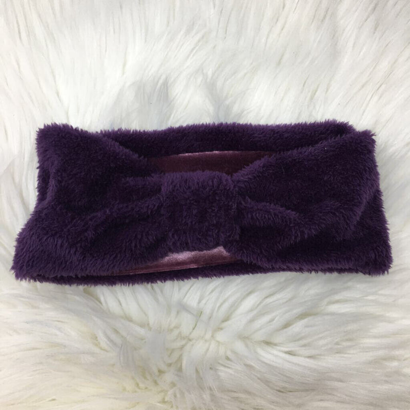knotted headband purple