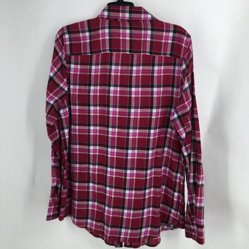 SZ XL plaid l/s button down
