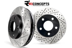 R1 Front Drilled/Slotted Rotors for your 2014+ C7 Corvette Stingray (pr)