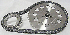 Billet timing chain and cam sprocket