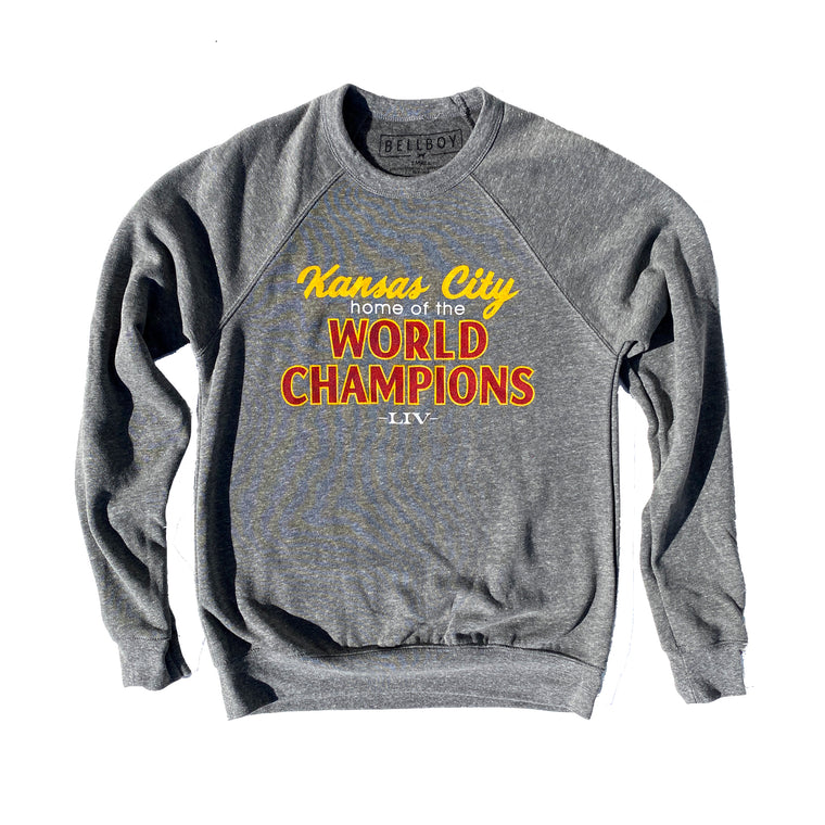 BELLBOY | KANSAS CITY WORLD CHAMPIONS SWEATSHIRT - GREY