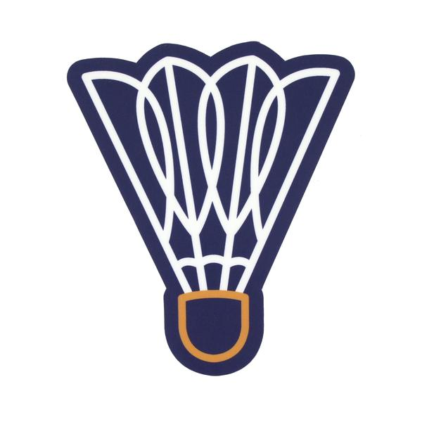 FLINT & FIELD | SHUTTLECOCK STICKER - NAVY