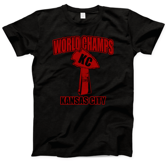 COMMANDEER BRAND | WORLD CHAMPS KC T-SHIRT - BLACK