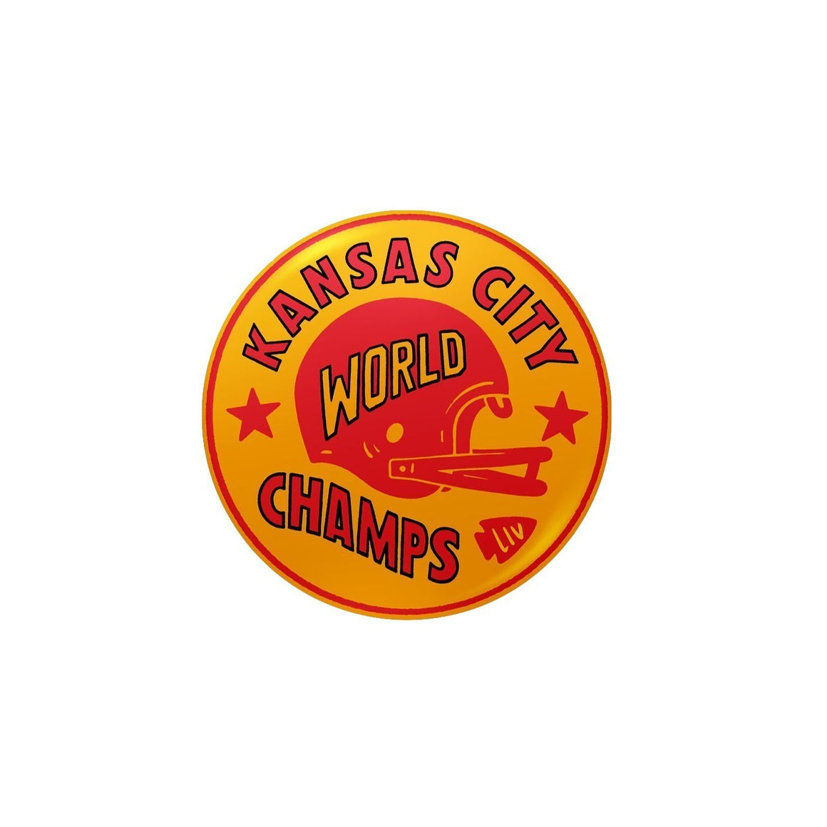 CHARLIE HUSTLE | WORLD CHAMPS BUTTON