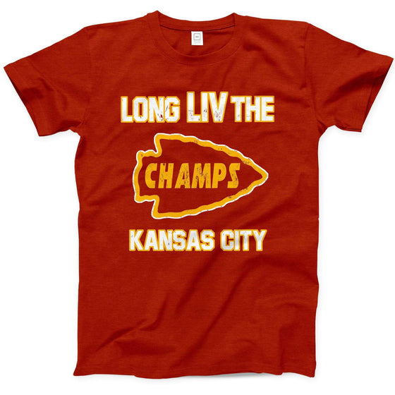 COMMANDEER BRAND | LONG LIV THE CHAMPS T-SHIRT - RED
