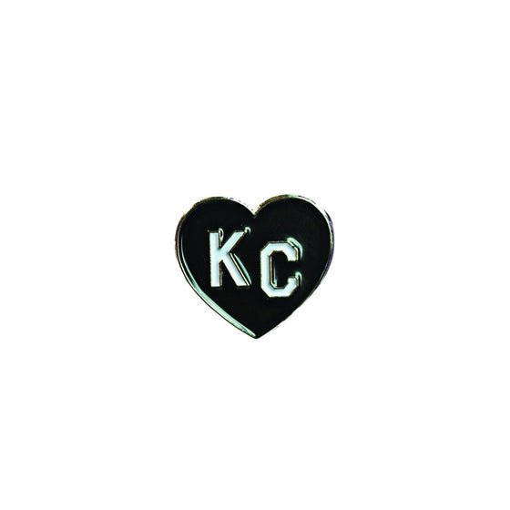 CHARLIE HUSTLE | KC HEART ENAMEL PIN - BLACK
