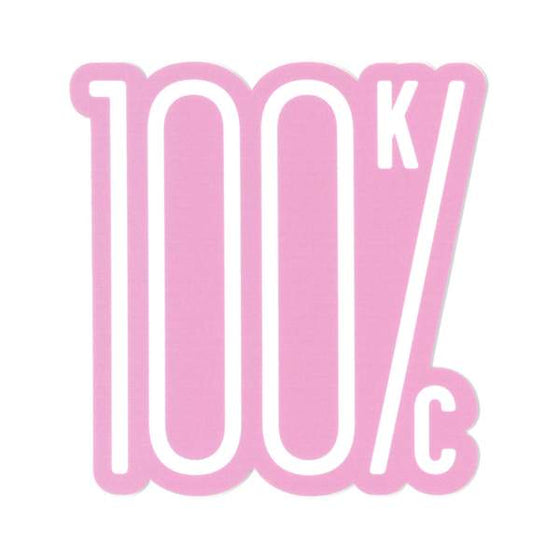 FLINT & FIELD | 100% KC STICKER - PINK