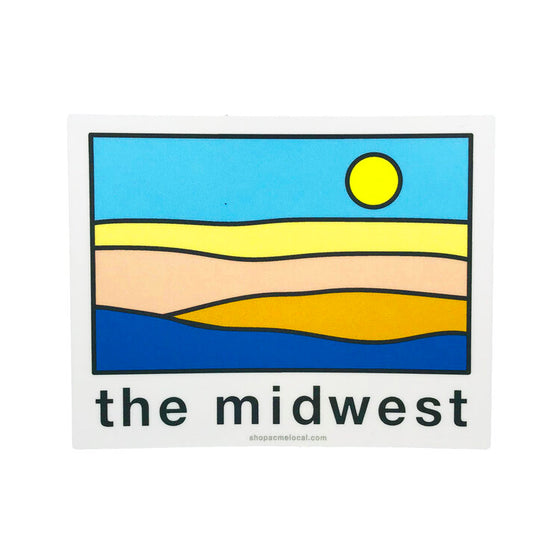 ACME LOCAL | MIDWEST PASTEL LANDSCAPE STICKER