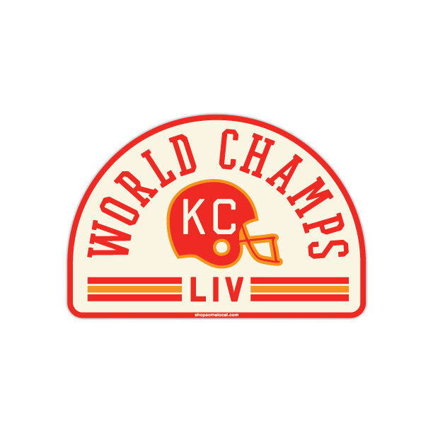 ACME LOCAL | KC WORLD CHAMPS ARCH DECAL