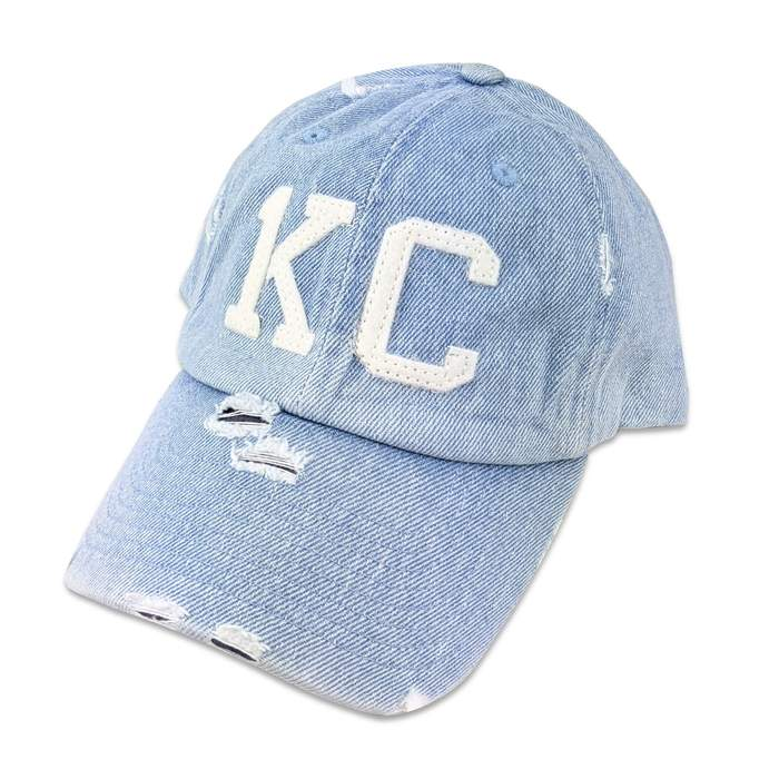 1KC | DISTRESSED BASEBALL HAT - LIGHT BLUE DENIM