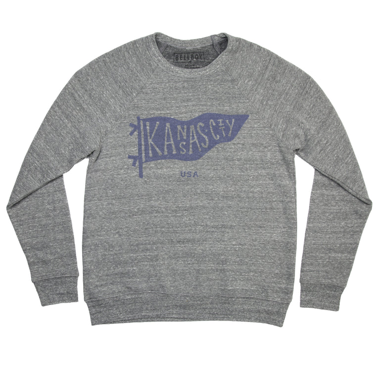 BELLBOY | KC PENNANT SWEATSHIRT - GREY