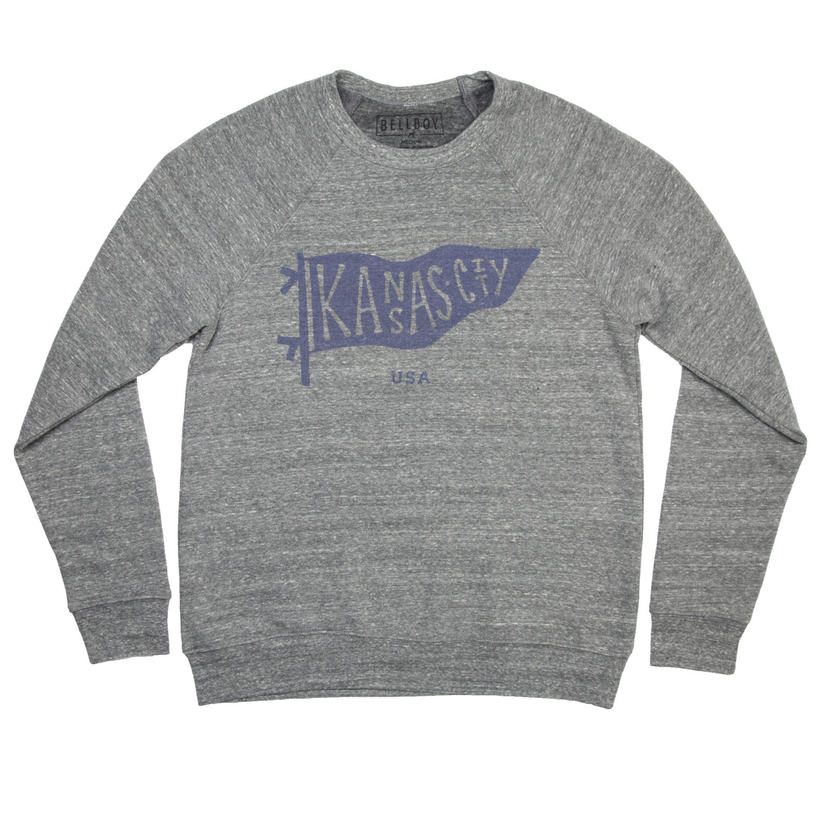 BELLBOY | KC PENNANT SWEATSHIRT GREY