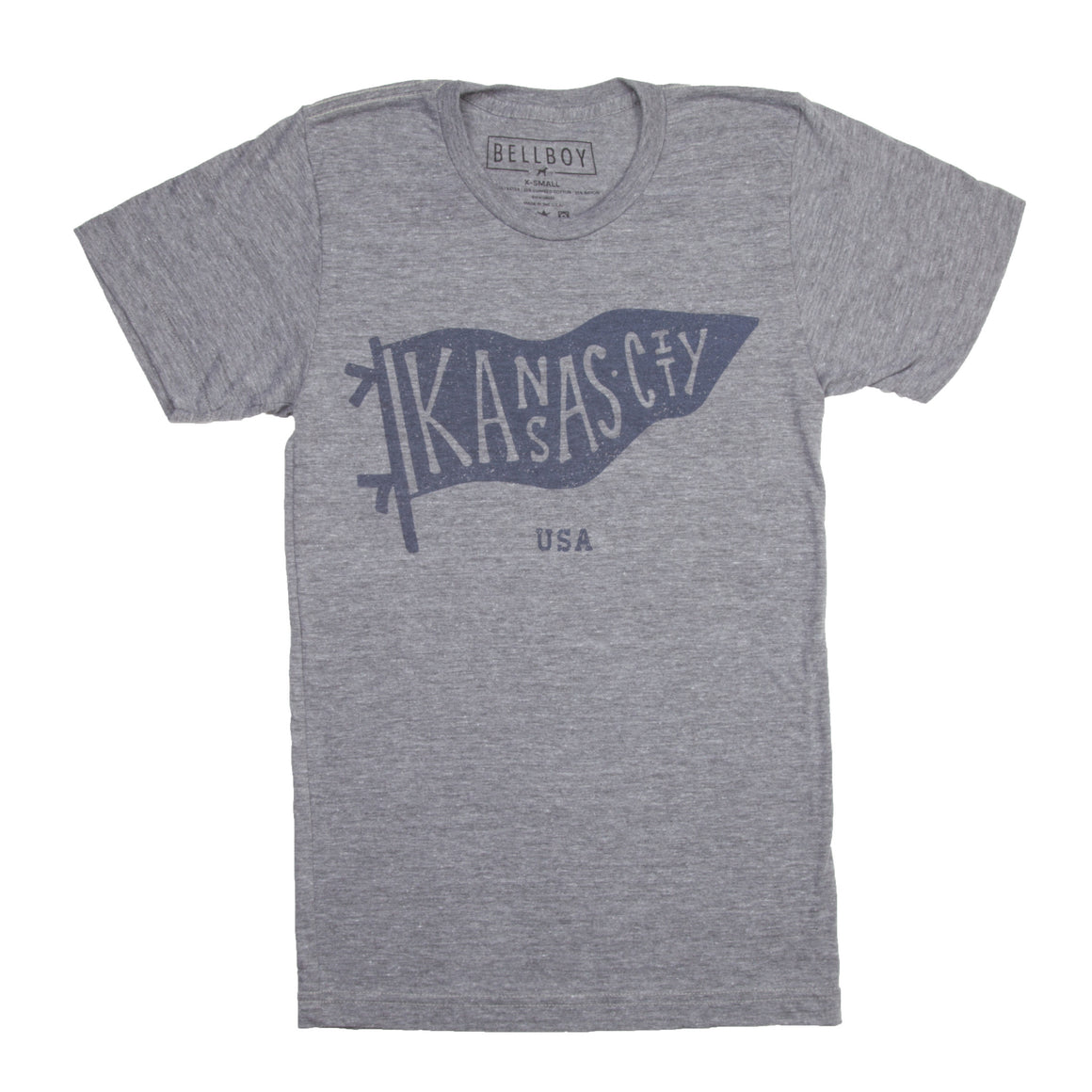 BELLBOY | KIDS KC PENNANT T-SHIRT - GREY